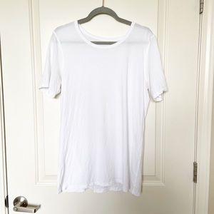 LULULEMON • Mens White Short Sleeve Tee Sz L